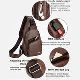Men/Women's Messenger Cross-Chest Bag with USB Charging Socket