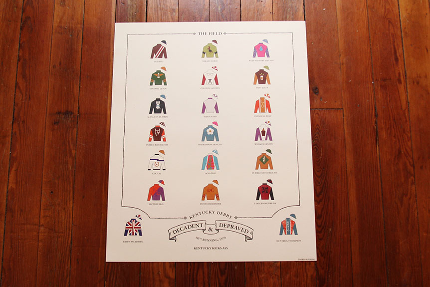 "A Third Running Of ""The Kentucky Derby Is Decadent and Depraved"" Print Available Friday, April 25th!"