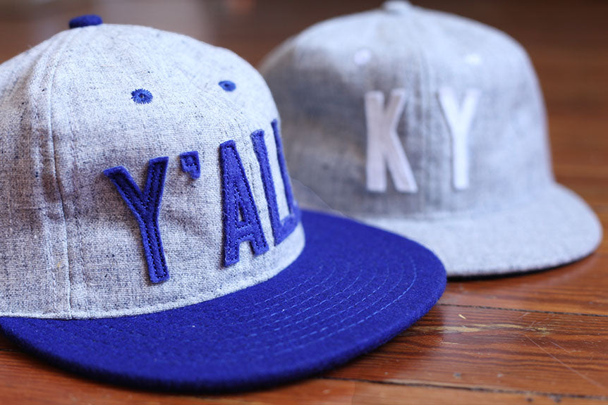 "New Custom Ebbets Field Flannels Vintage ""KY"" and Y'ALL Baseball Caps Coming Soon!"