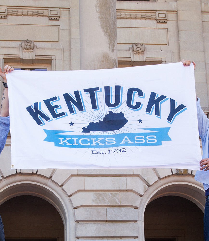 KENTUCKY KICKS ASS FLAGS