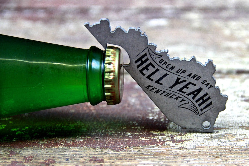 Kentucky Shaped Bottle Openers for Proud Kentuckians!