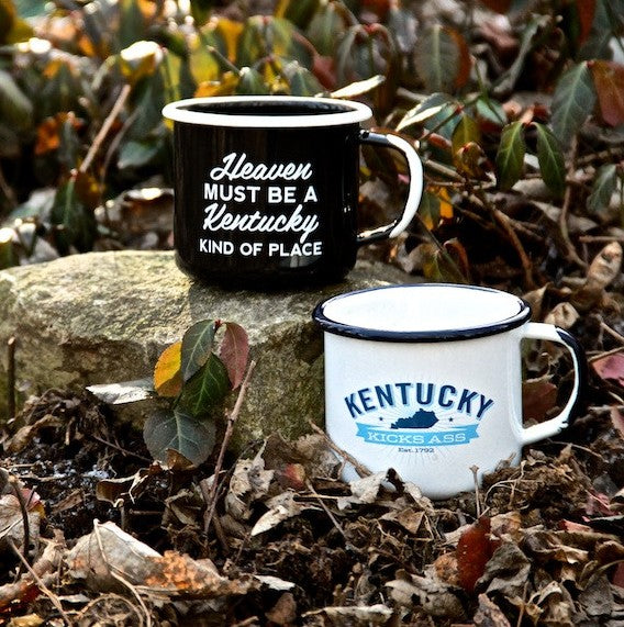 Enamel Steel Mugs For Proud Kentuckians