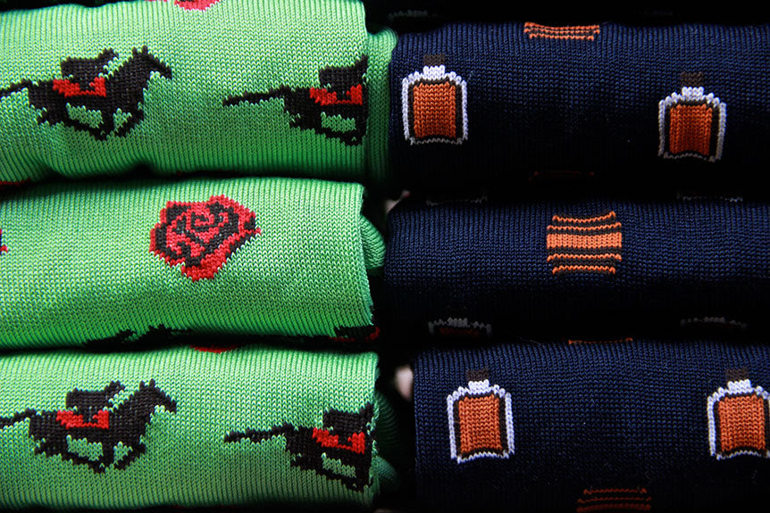 Racing Horses and Run for the Bourbon in These Dapper Socks!