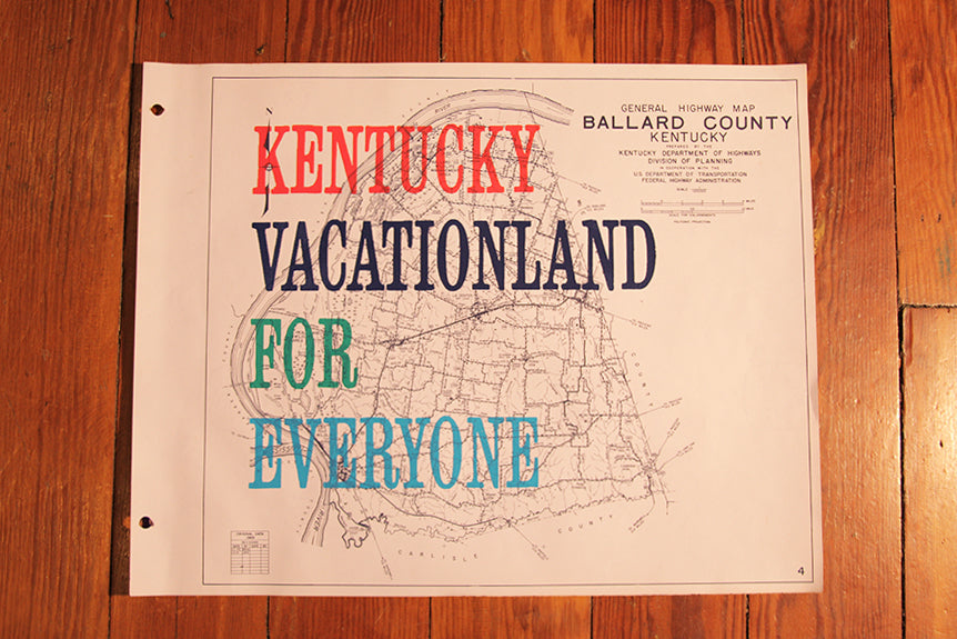 """Kentucky Vacationland For Everyone"" Vintage Map Prints"