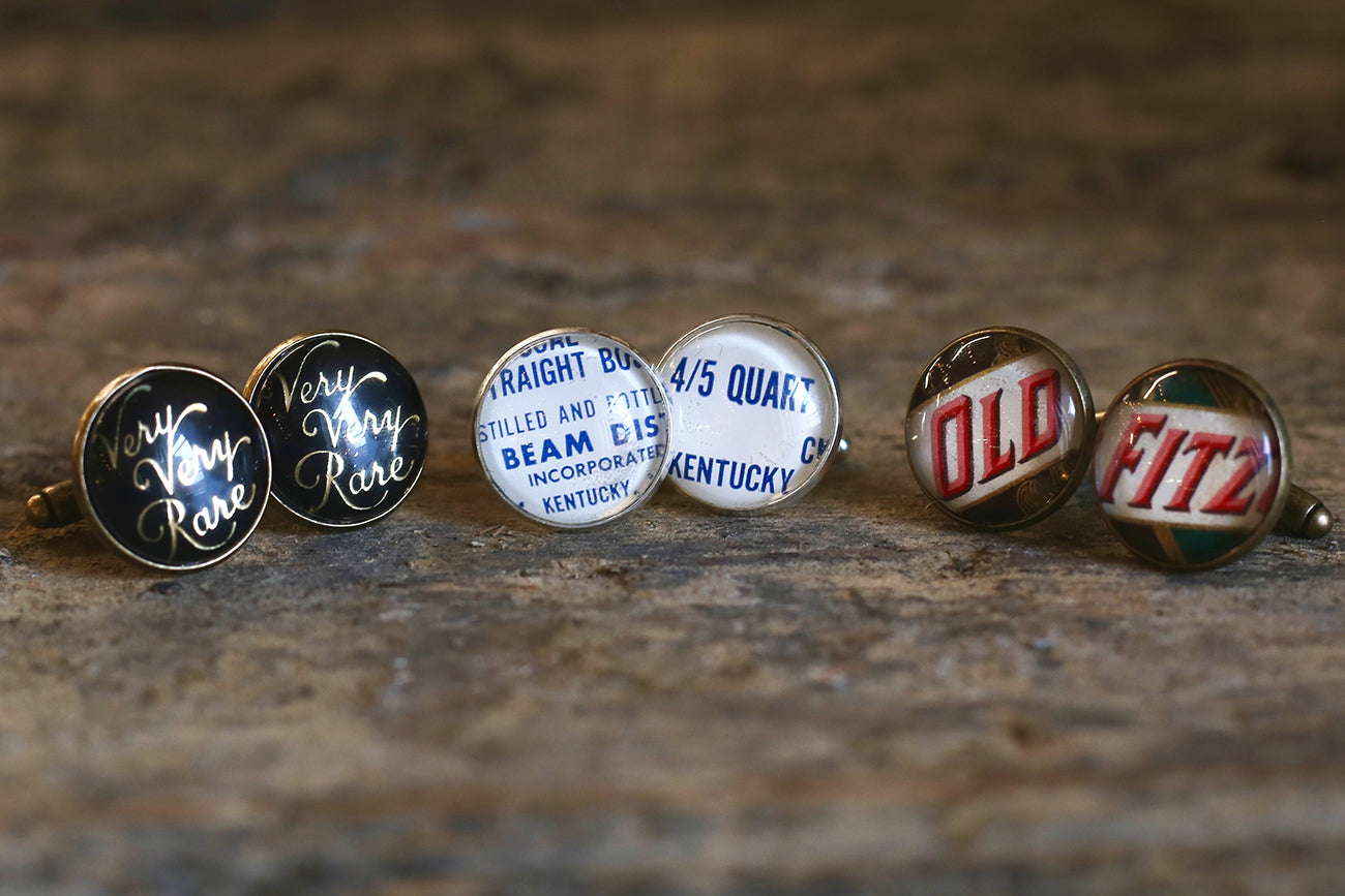 Vintage Bourbon Label Cufflinks