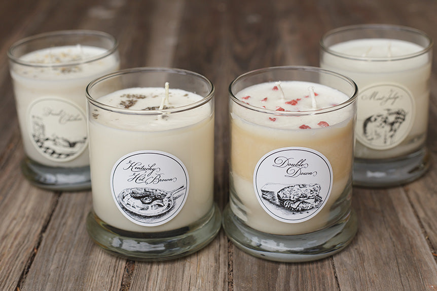 Scents Of The Commonwealth: Double Down, Hot Brown, Mint Julep and Fried Chicken Candles!