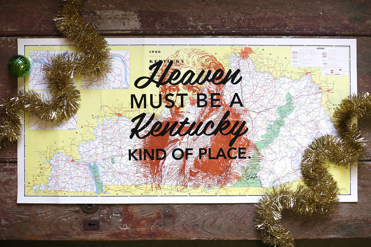 Vintage Kentucky Map Prints
