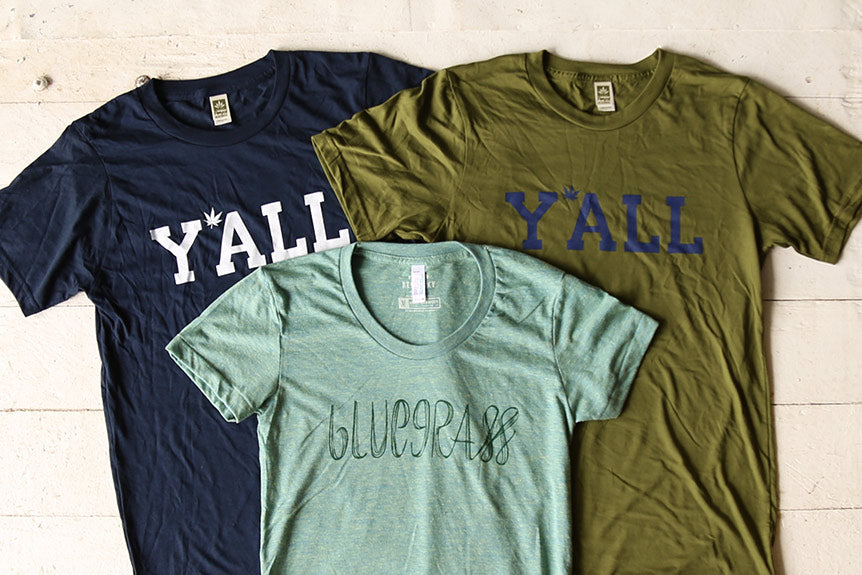 Hemp  Y'ALL T-shirts and Bluegrass Tanks Tees