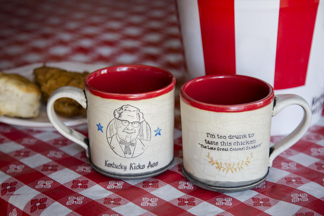 Colonel Sanders Mugs By David Kring