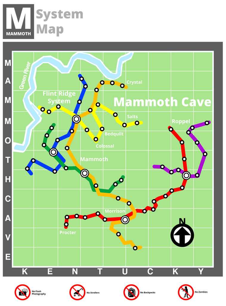 Mammoth Cave Reimagined As A Subway System - Kentucky for ... on i 65 kentucky map, mammoth trail map, smiths grove ky map, wind cave national park map, loretto ky map, kentucky caves map, mammoth az map, indiana caves map, adolphus ky map, mammoth on a map, ledbetter ky map, mannsville ky map, cave city map, mammoth campground, streets of covington ky map, mayking ky map, cave run lake ky map, blank ky map, mcveigh ky map, rowan county ky map,