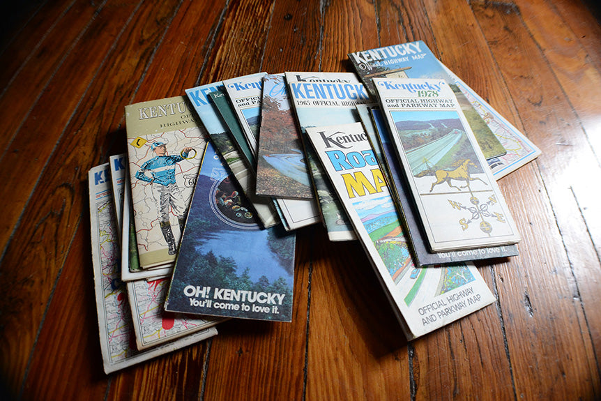 Silkscreened Vintage Kentucky Highway Map Prints Are Back