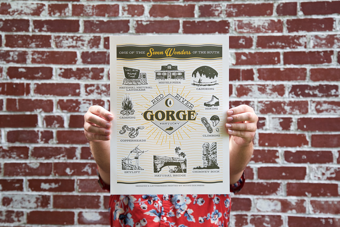 Red River Gorge Prints By Hound Dog Press