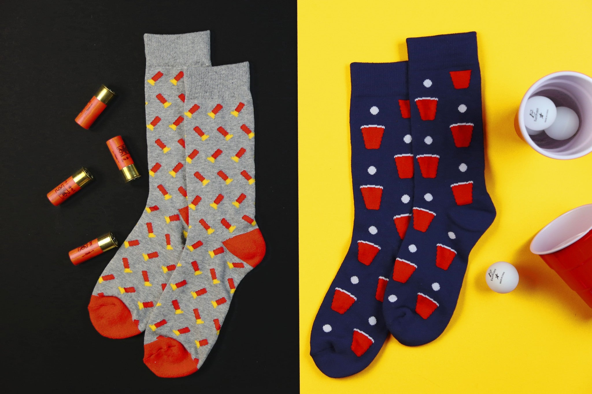 New Shotgun Shell & Beer Pong Socks