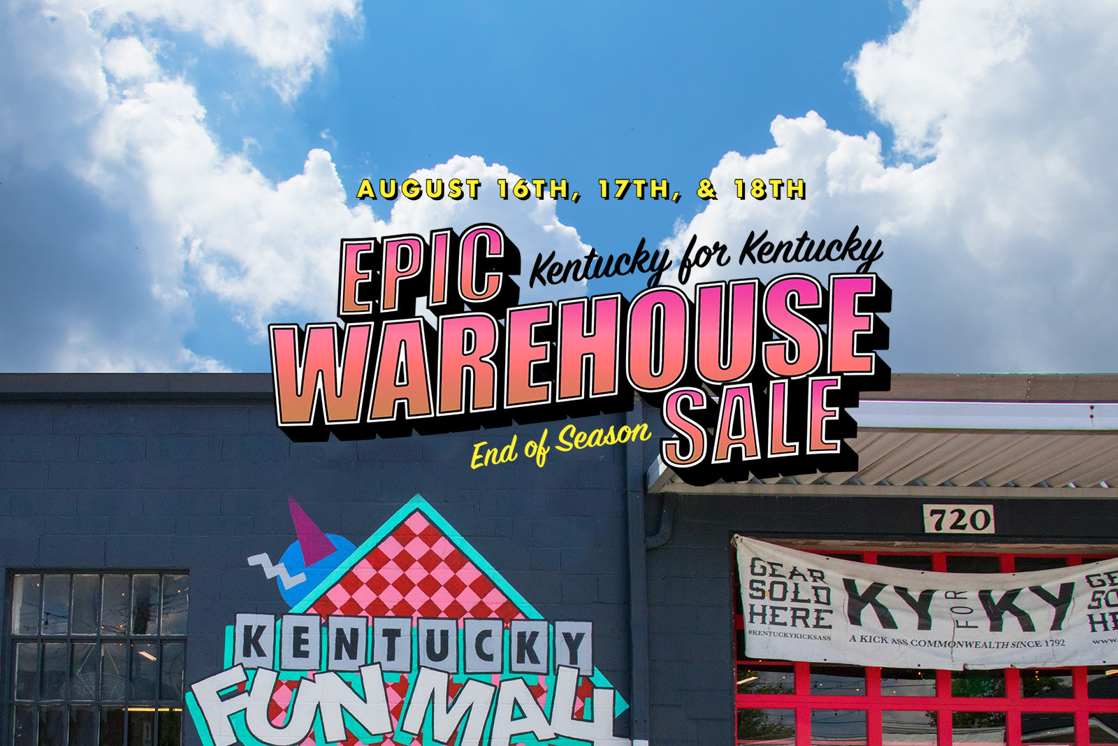 Epic 3 Day Warehouse Sale!