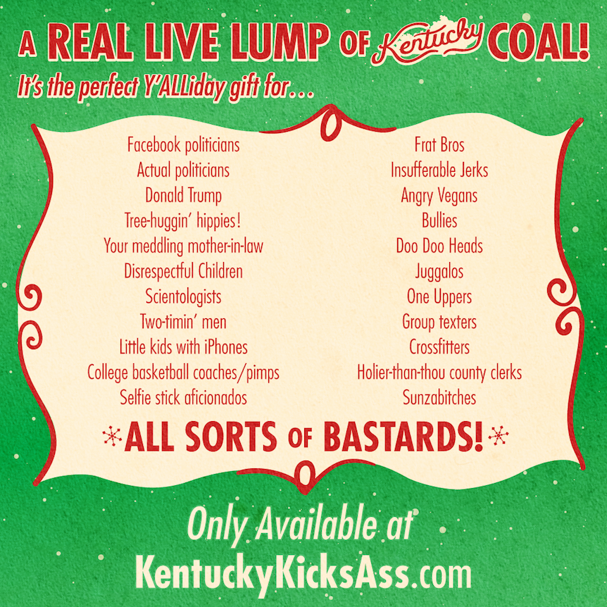Kentucky Christmas Coal Naughty List