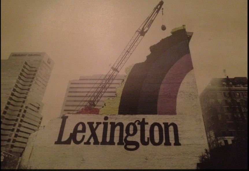 Lexington Rainbow Mural Building Razed