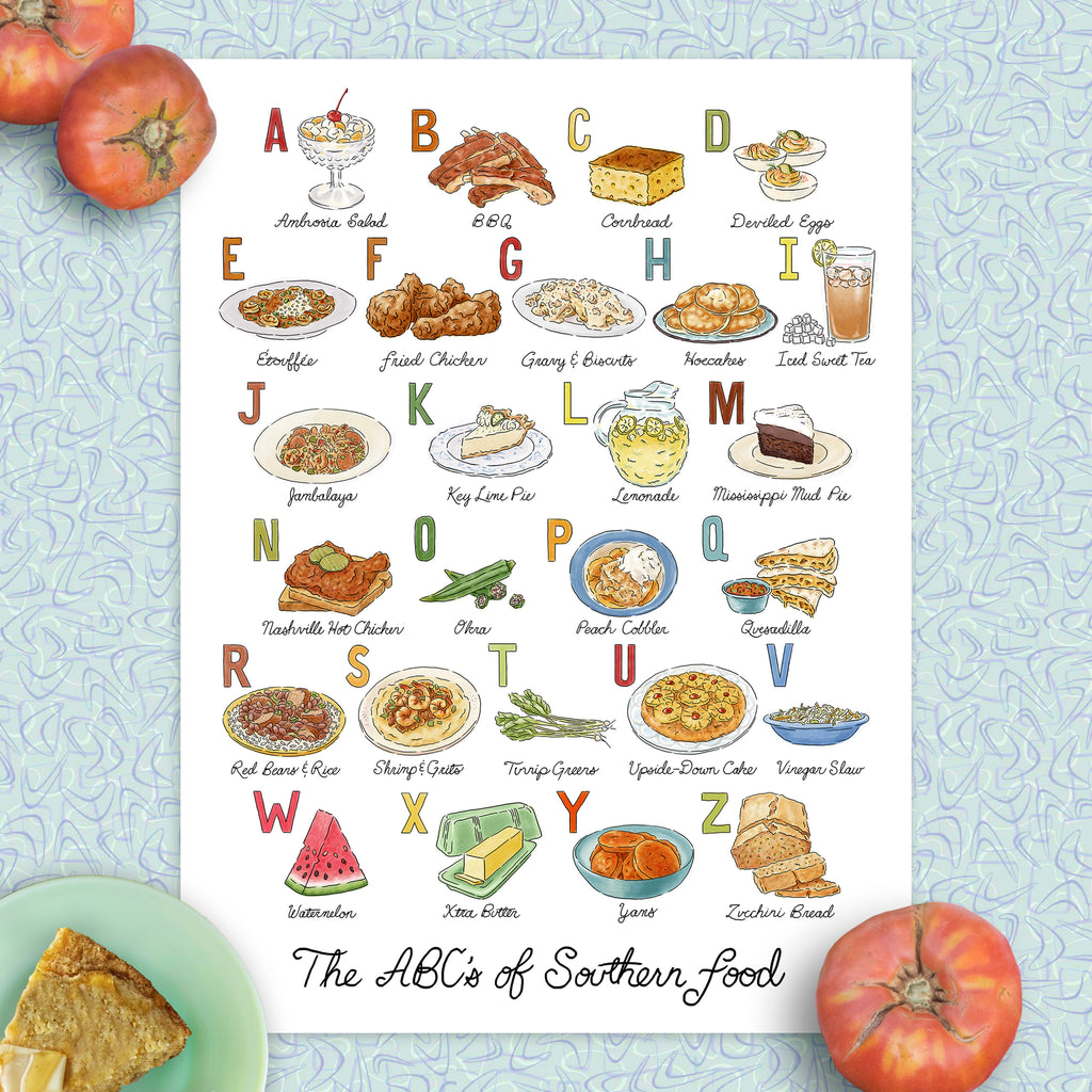 ABCs of Southern Food Print