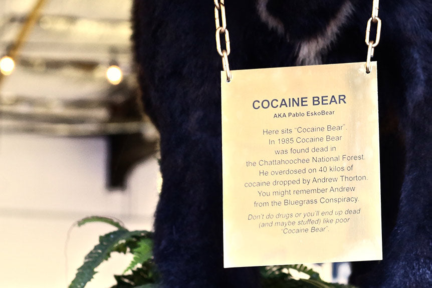 Cocaine Bear Plaque