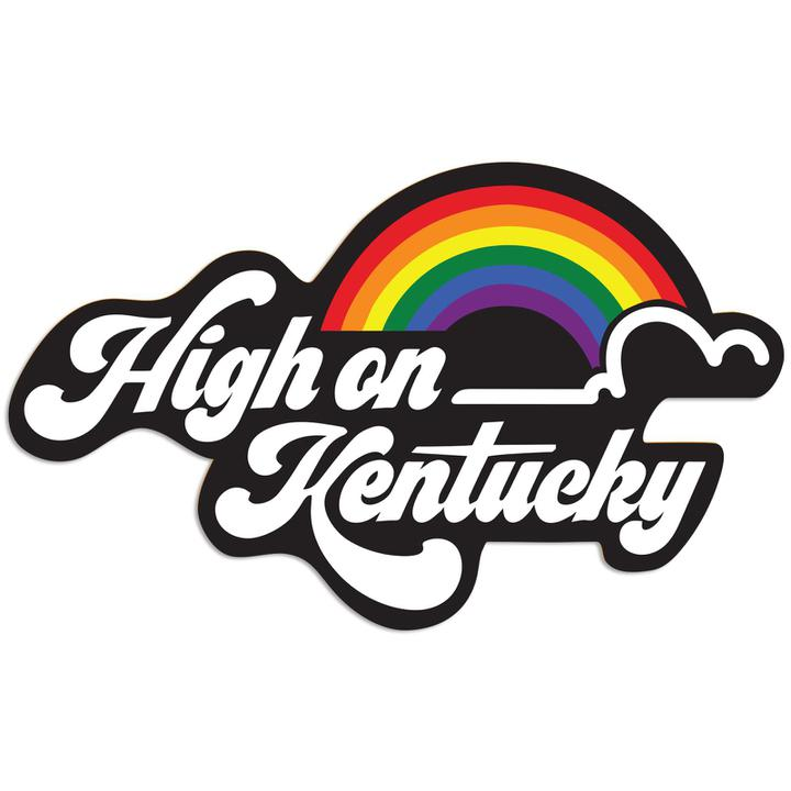 High on Kentucky Sticker-Stickers-KY for KY Store