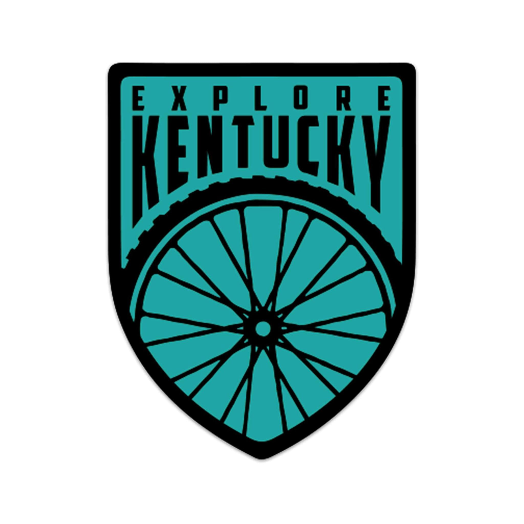 Explore Kentucky's Cycling Sticker (Mint Green)-Stickers-KY for KY Store
