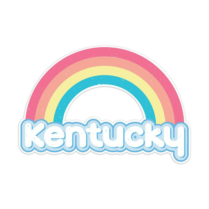 Vintage Kentucky Rainbow Sticker-Stickers-KY for KY Store