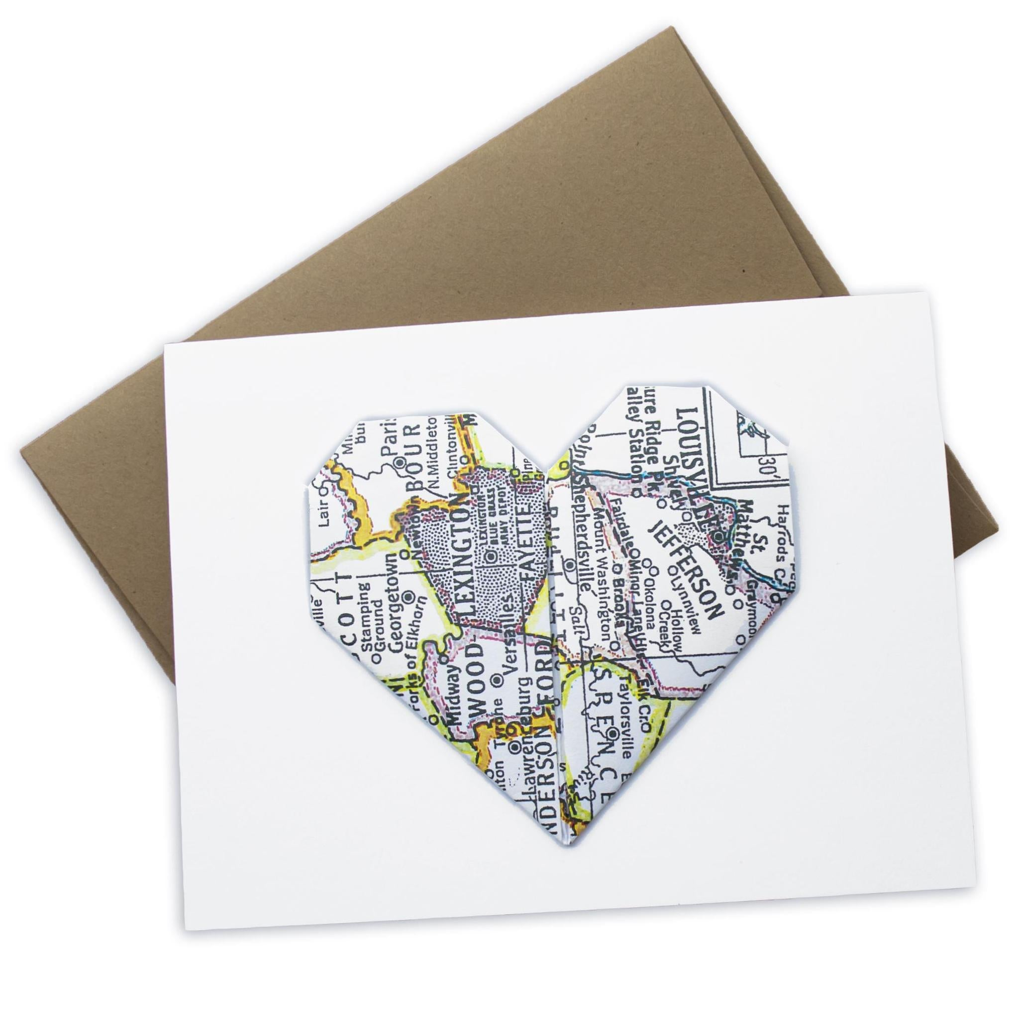 KY Heart Map Greeting Card-Odds and Ends-KY for KY Store