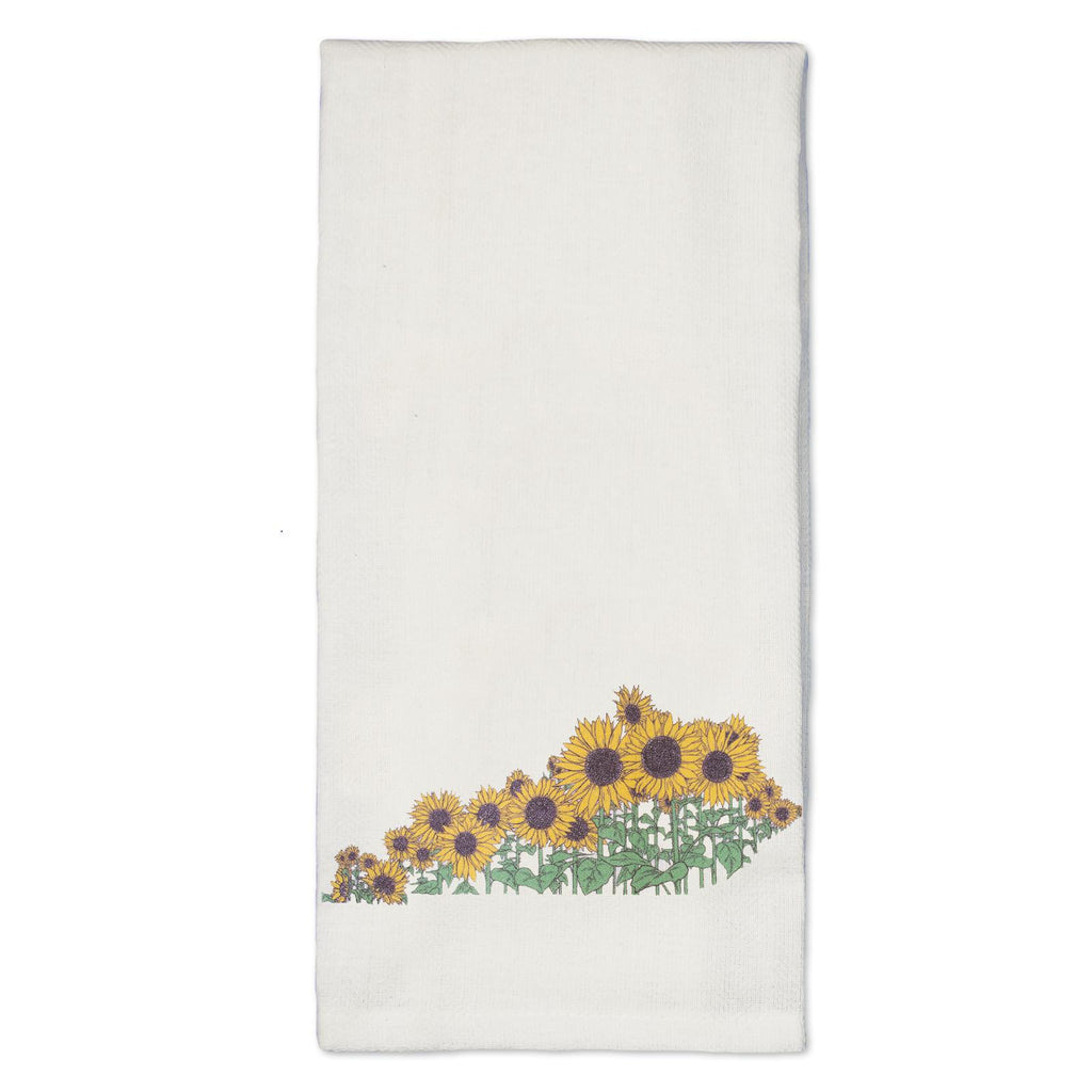 Sunflower KY Tea Towel-Odds and Ends-KY for KY Store