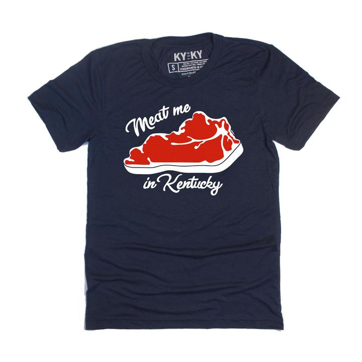 Meat Me In Kentucky T-Shirt-T-Shirt-KY for KY Store