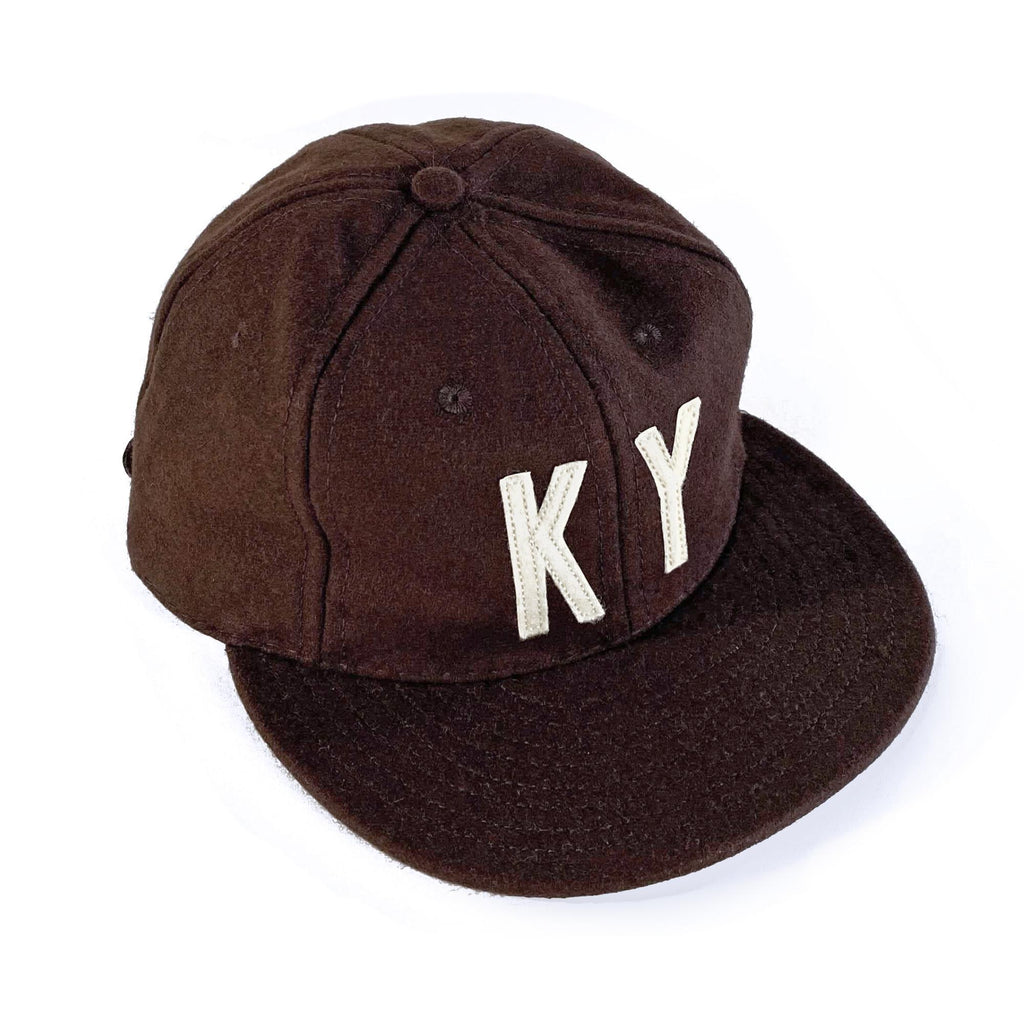 KY Ebbets Hat (Brown and Vintage White)-Hat-KY for KY Store
