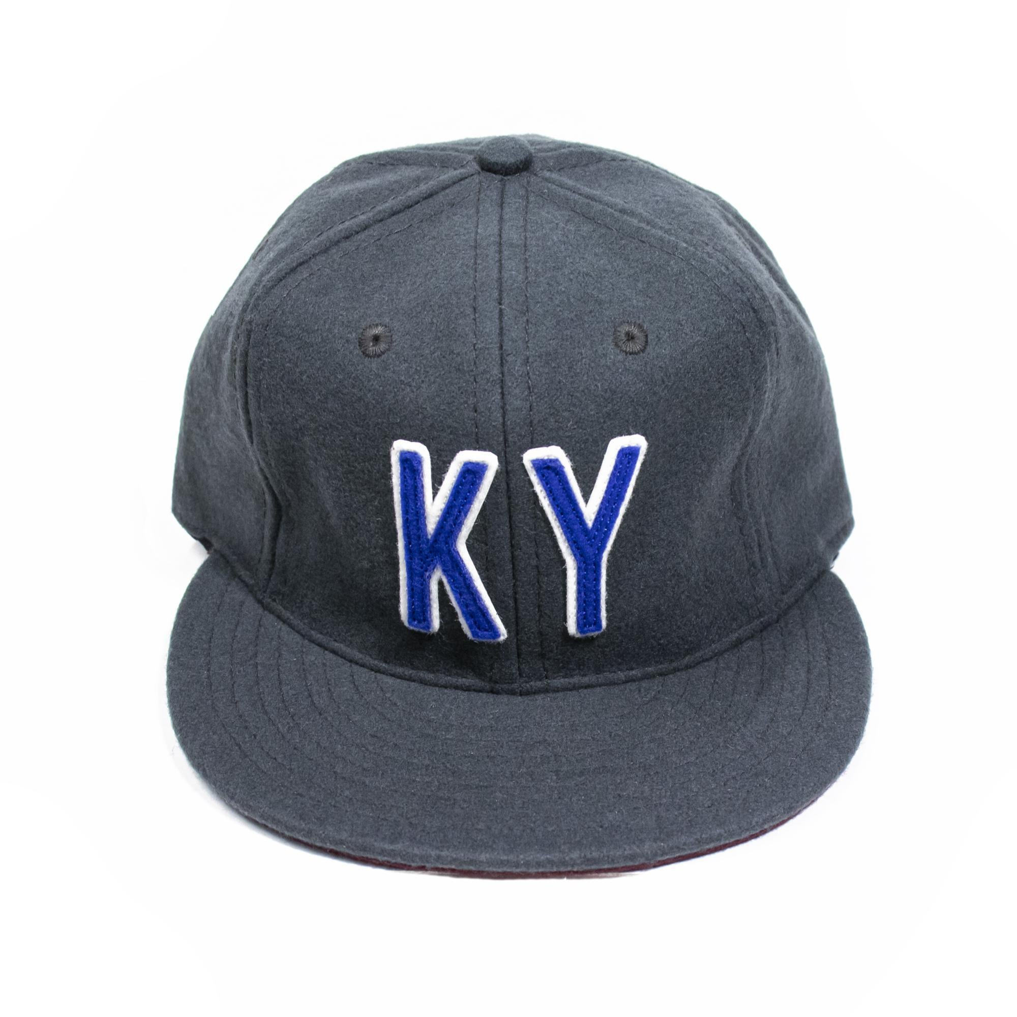 KY Ebbets Hat (Charcoal and Royal/White)-Hat-KY for KY Store