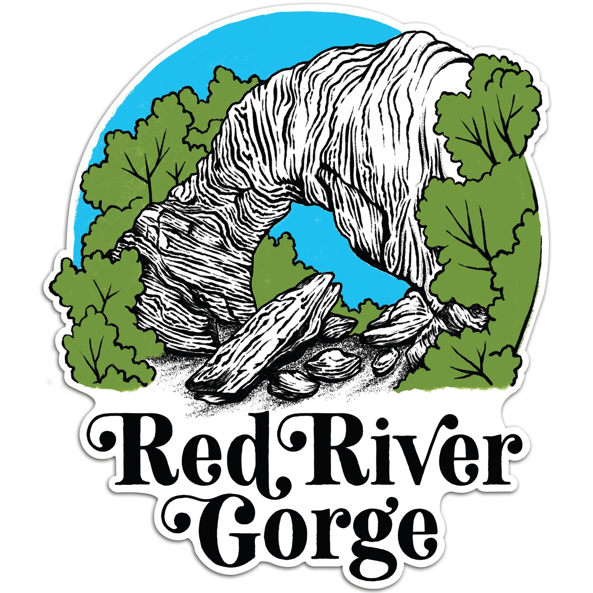 Red River Gorge Bridge Sticker-Stickers-KY for KY Store