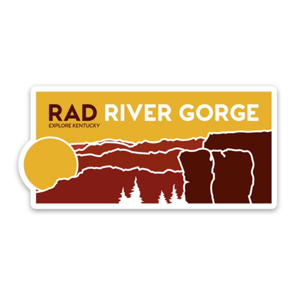 Explore Kentucky's Rad River Gorge Sticker-Stickers-KY for KY Store