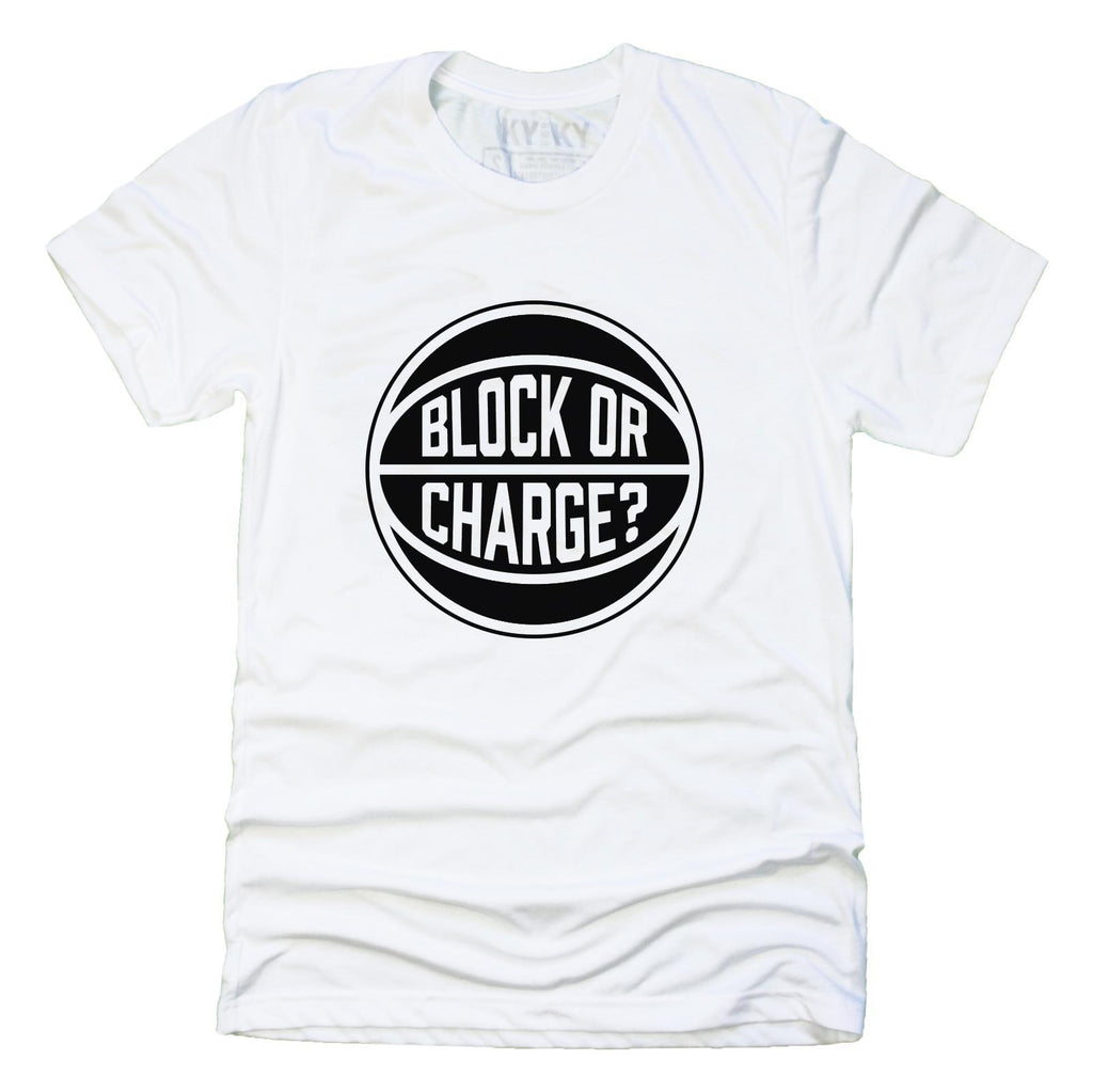 Black Lives Matter Block Or Charge T-Shirt (White)
