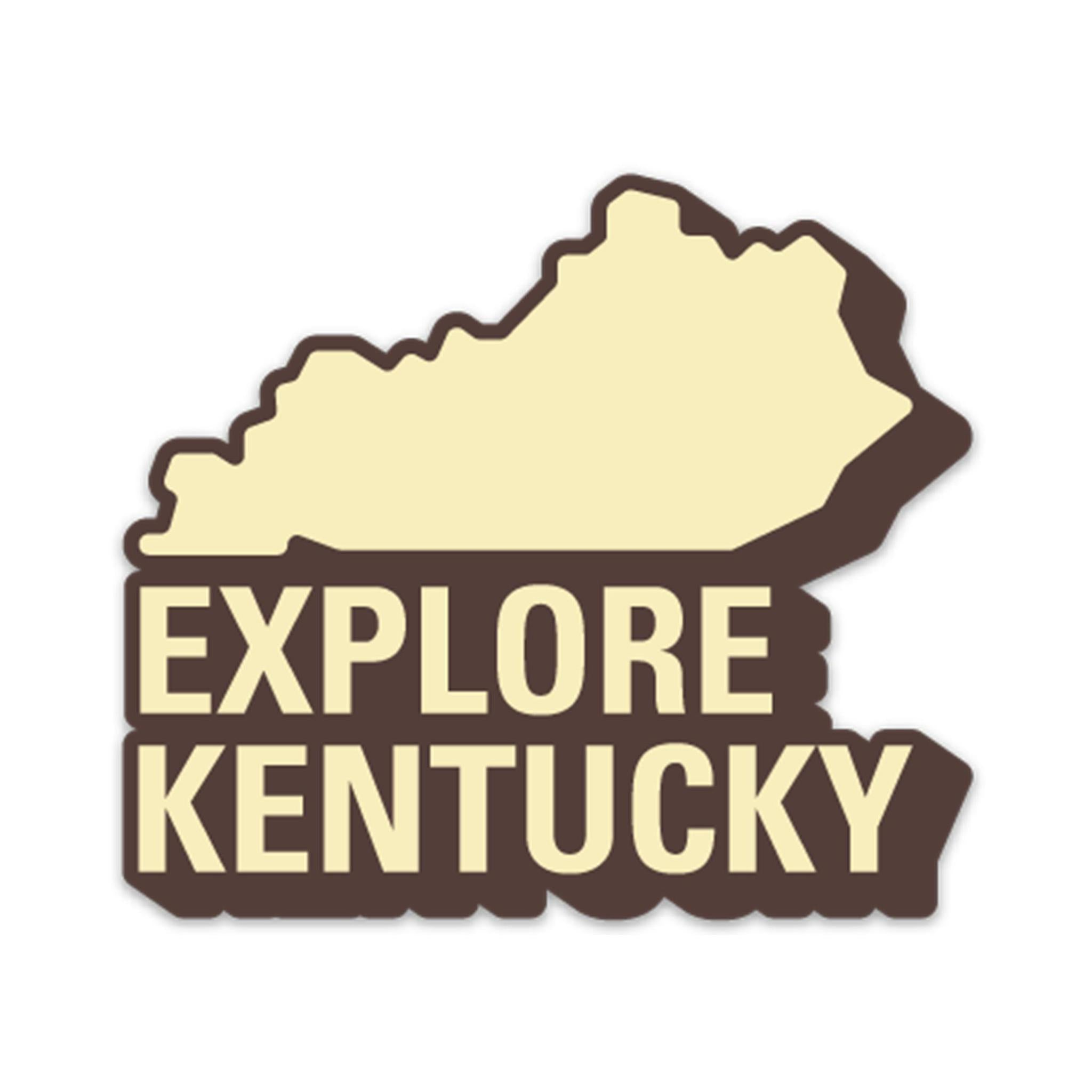 Explore Kentucky No. 1 Sticker (Trailhead Brown)-Stickers-KY for KY Store