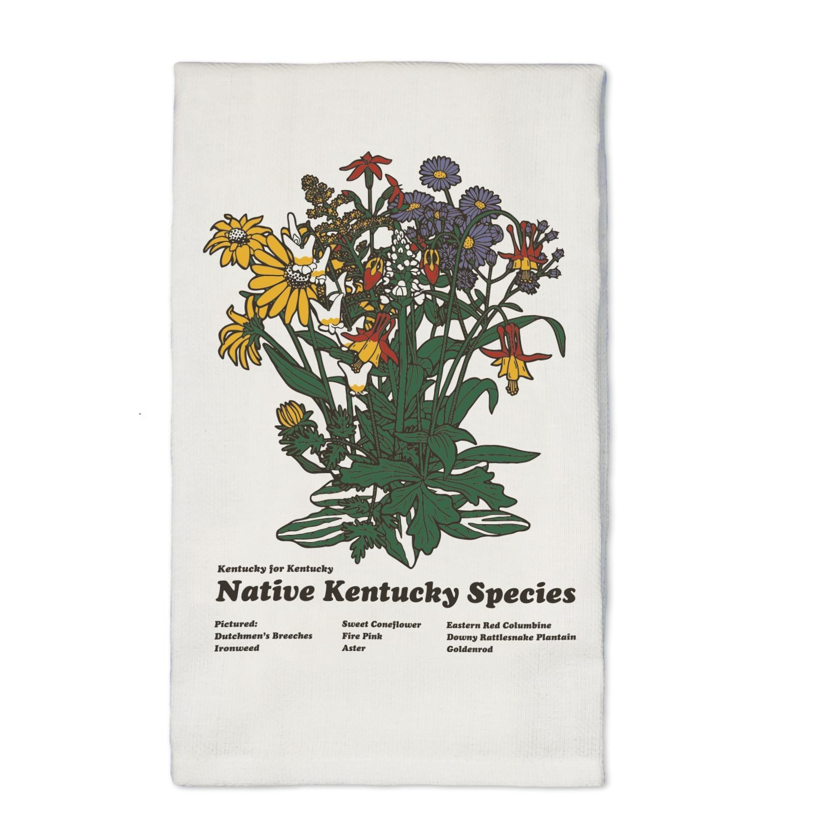 Kentucky Flora Tea Towel-Odds and Ends-KY for KY Store