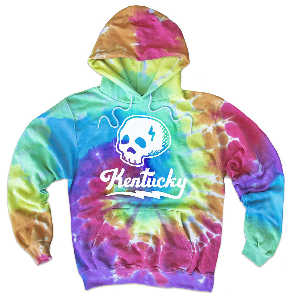 Tie-Dye Kentucky Skull Hoodie-Sweatshirt-KY for KY Store