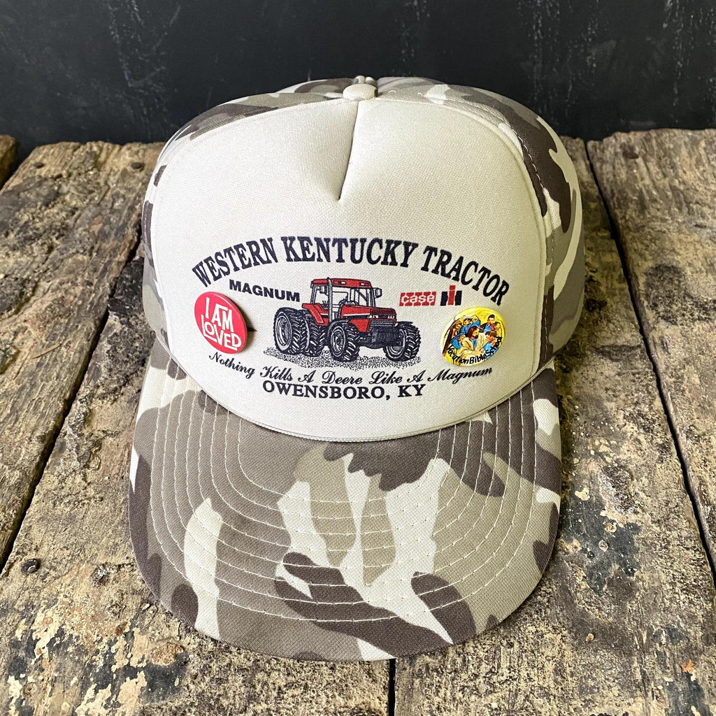 Vintage Western KY Tractor Hat w Buttons-KY for KY Store