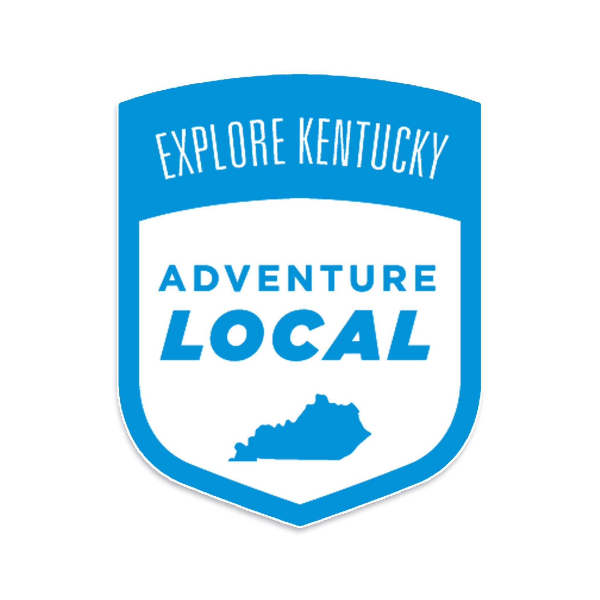 Explore Kentucky's Adventure Local Sticker (Blue)-Stickers-KY for KY Store
