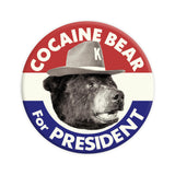 Cocaine Bear for President Button-Odds and Ends-KY for KY Store