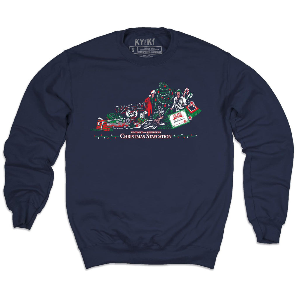 Christmas Staycation Sweatshirt-Sweatshirt-KY for KY Store