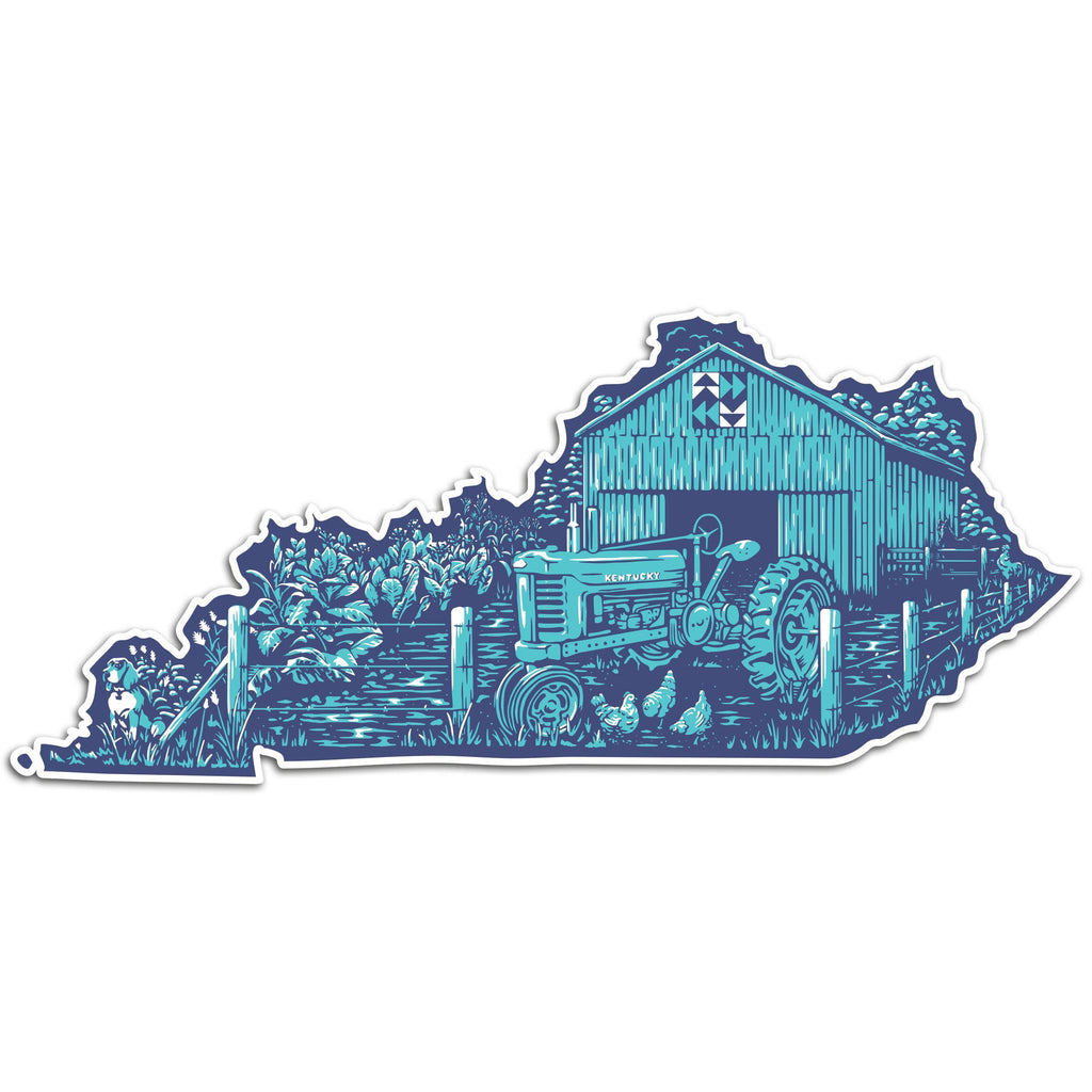 Farm Kentucky Sticker-Stickers-KY for KY Store