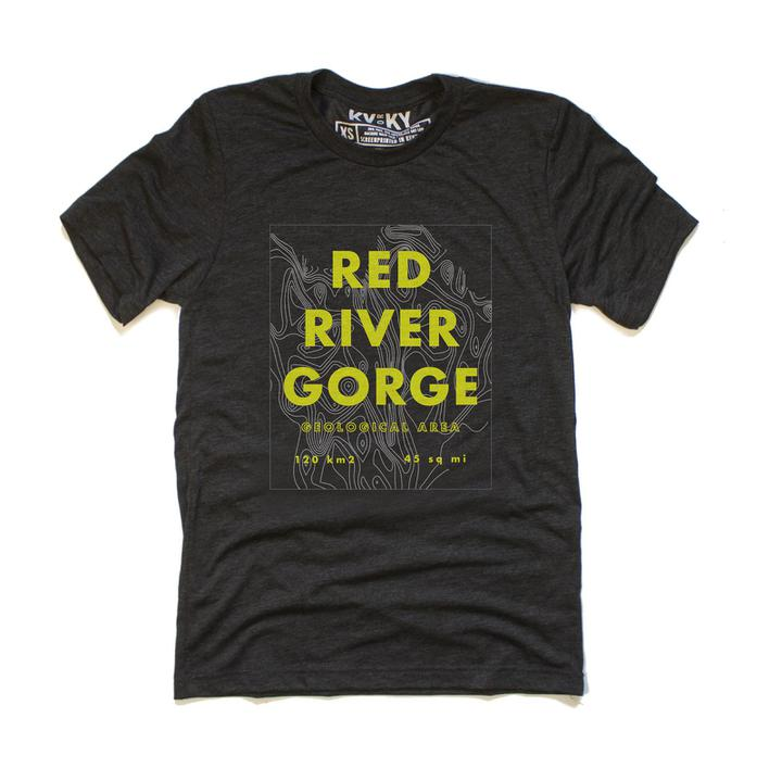 Red River Gorge Topo T-Shirt-T-Shirt-KY for KY Store