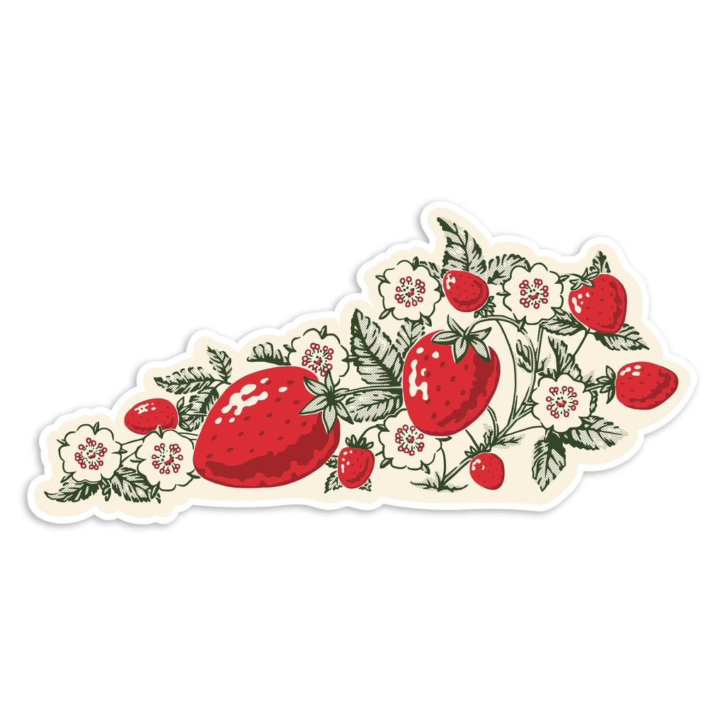 Strawberry KY Sticker-Stickers-KY for KY Store