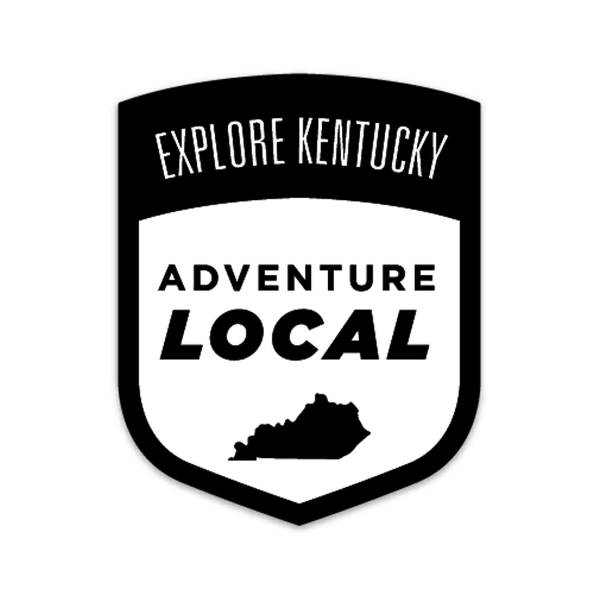 Explore Kentucky's Adventure Local Sticker (Black)-KY for KY Store