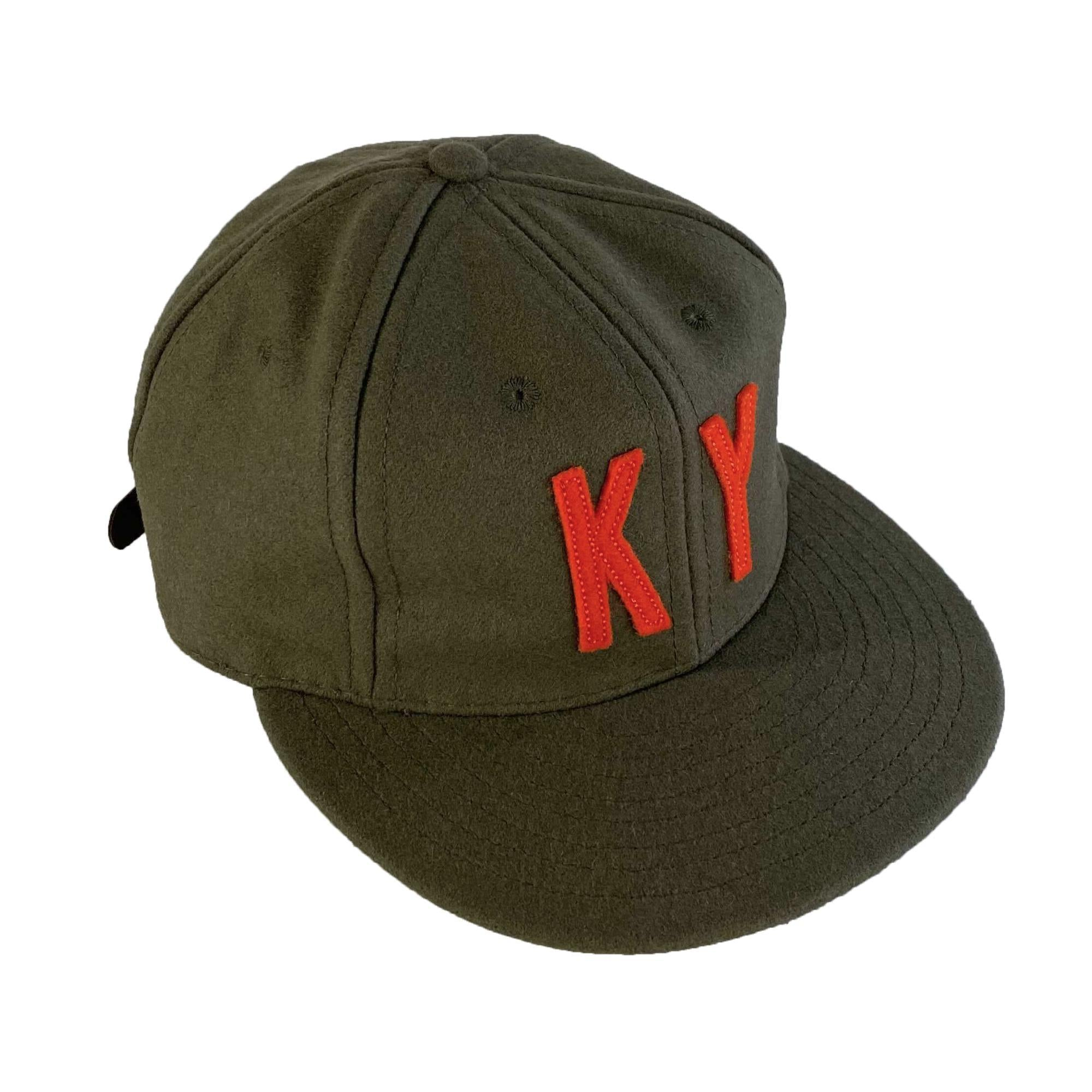 KY Ebbets Hat (Olive and Orange)-Hat-KY for KY Store