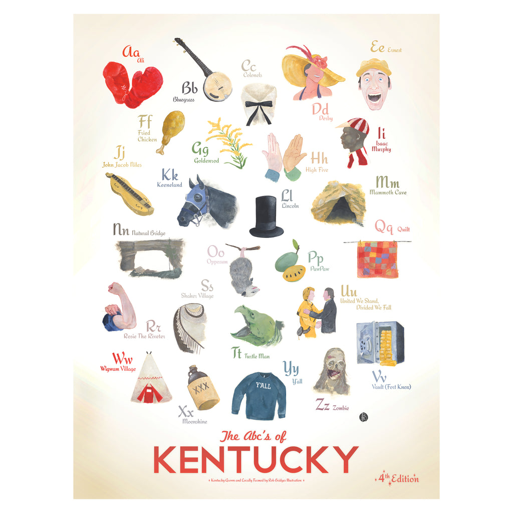 ABC's of Kentucky Print-Prints-KY for KY Store