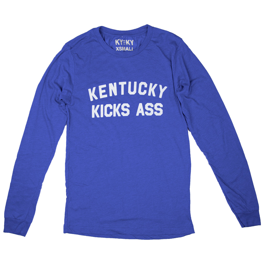 Long Sleeve Kentucky Kicks Ass Shirt-Long Sleeve Shirt-KY for KY Store