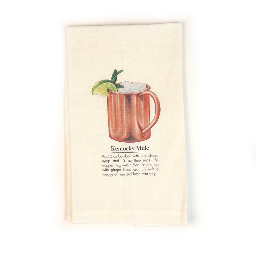 Kentucky Mule Cocktail Tea Towel-Odds and Ends-KY for KY Store