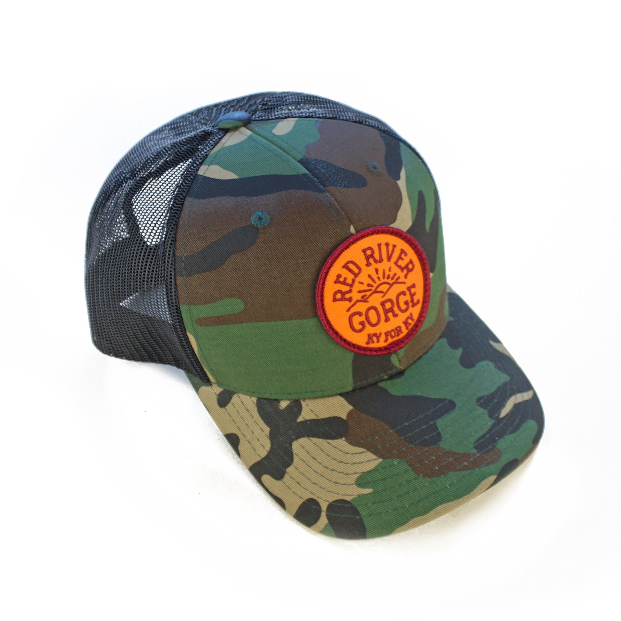 Red River Gorge Camo Trucker Hat-Hat-KY for KY Store