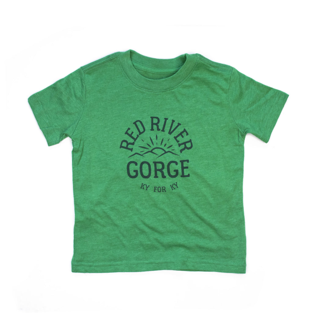 Red River Gorge Kids Tee (Green)-T-Shirt-KY for KY Store